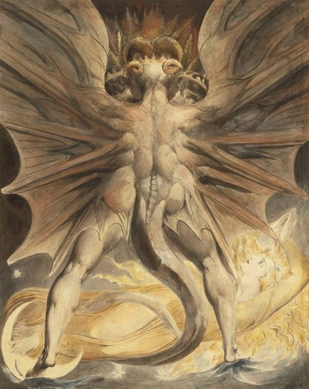 william-blake-le-grand-dragon-rouge-en-vol